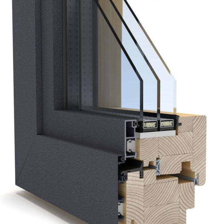Alu clad wood window IKON windows