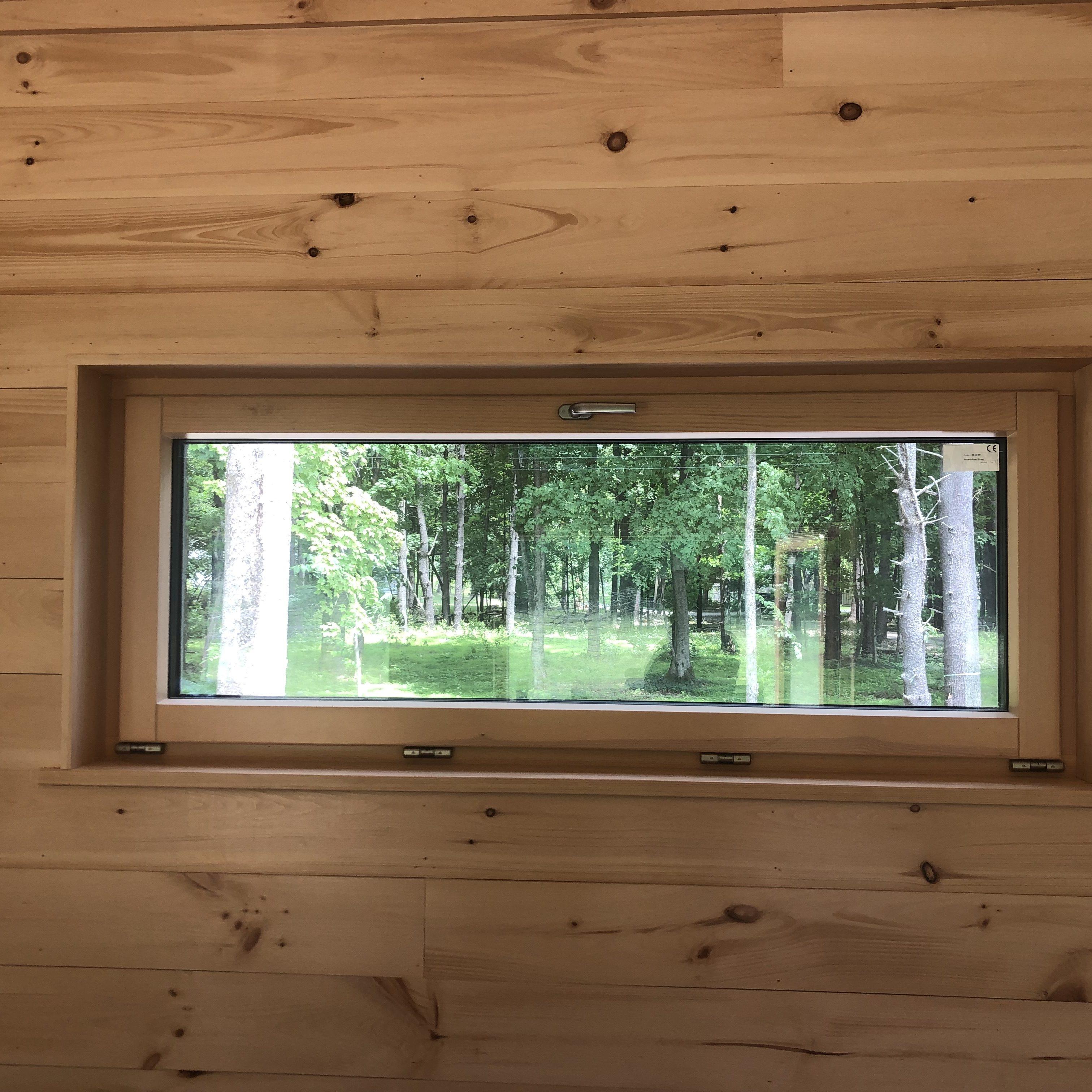 Wood clad Passive house windows